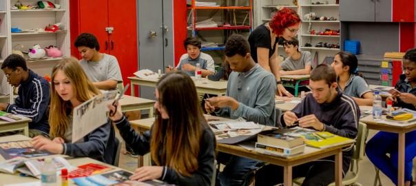 Classe d'arts plastiques - école St-Henri